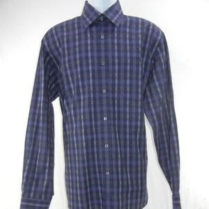 Bugatchi Oumo Plaid Dress Shirt Men's Xl